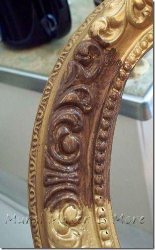 How To Paint An Antique Gold Faux Finish Gold Painted