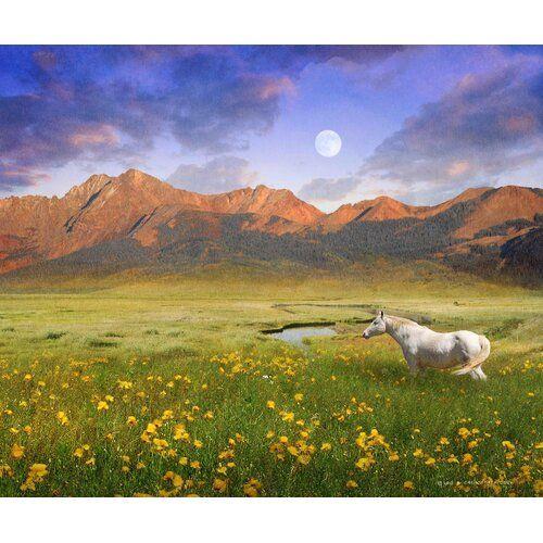 """Leinwandbild """"White Horse Mountain"""" von Chris Vest Fotodruck East Urban Home Größe 101 cm H x 122 cm B x 3 81 cm T"""