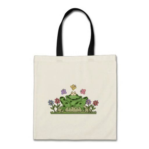 Flower Garden Frog T-shirts and Gifts Tote Bag