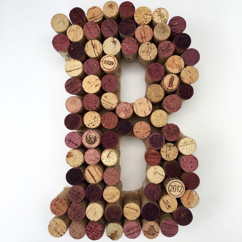 Real Weddings Cork: Wine Cork Letter B Made From Real Wine Corks! Cork Letters
