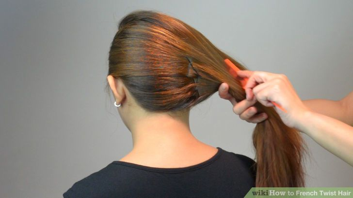 3 Ways To French Twist Hair Wikihow French Twist Hair Easy Hair Updos Medium Hair Styles
