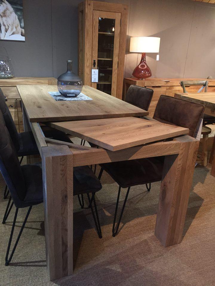 table en chene massif avec allonge