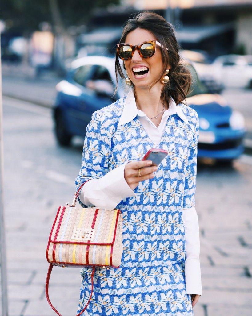 Luiza Sobral Milan Fashion Week MFW vestido azul Olympiah