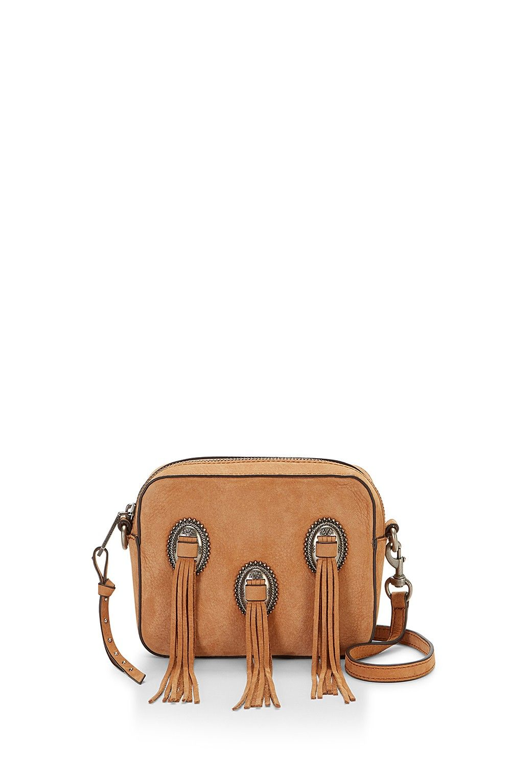 Western Crossbody Howdy This Supple Leather Box Bag Features Luxe Tassels Ancd By Metal Medallions For A Cool Southwestern Vibe