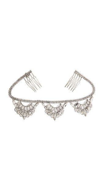 LELET NY Oscar Swarovski Top Knot Halo Headpiece $355