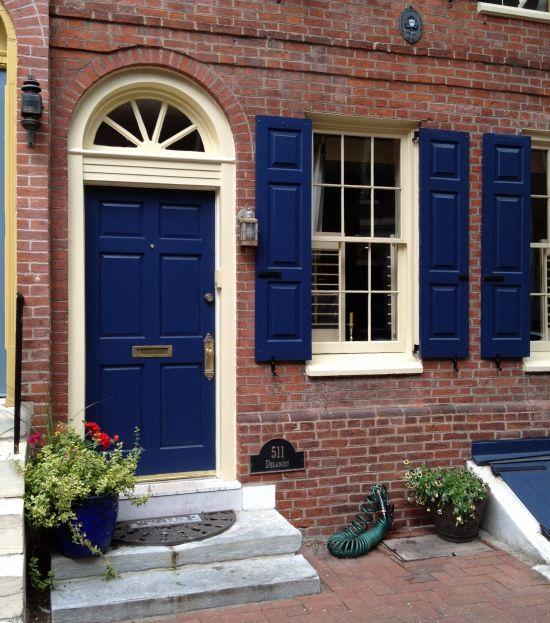Door inspiration philadelphia society hill historic - House with blue door ...