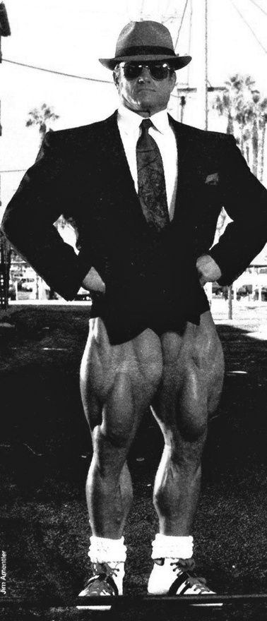 Some motivation for leg day tomorrow   Classic Tom Platz in a suit