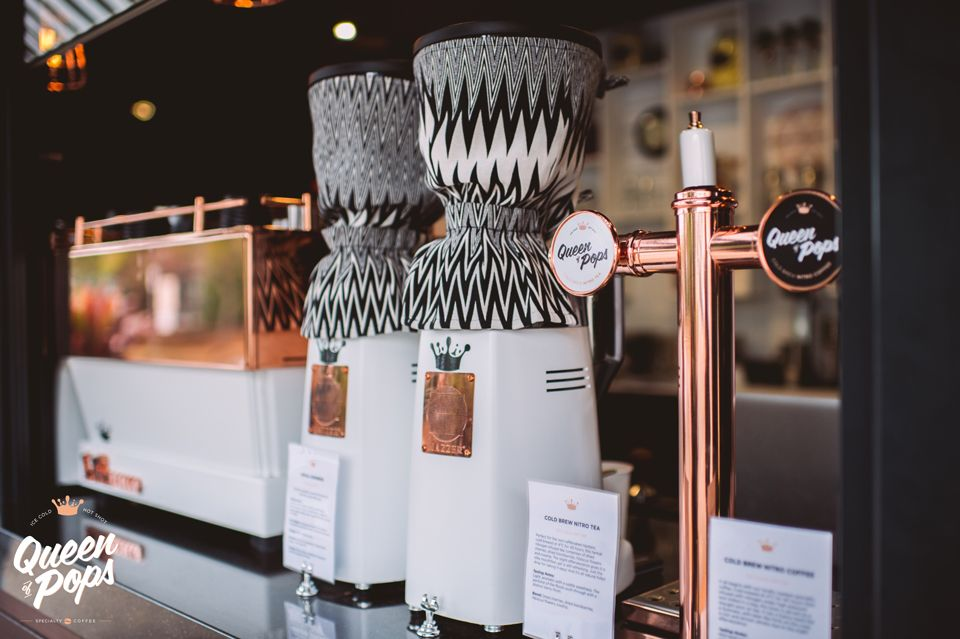 Cold Brew Nitro Coffee And Tea Sit Along Side Our Custom Made La