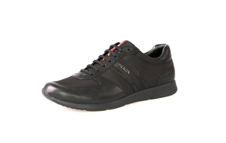 f00c1f661f926 Amazon.com: Prada Men's 4E2100 Black Leather Sneaker EU 9.5 (43,5 ...