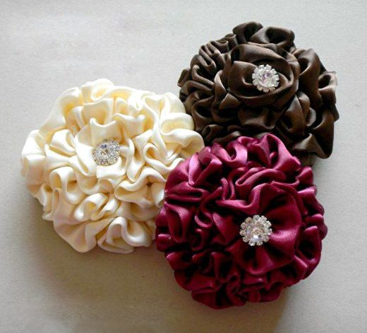 Satin Flower Tutorial - Make Flower Hair Clips – Nbeads