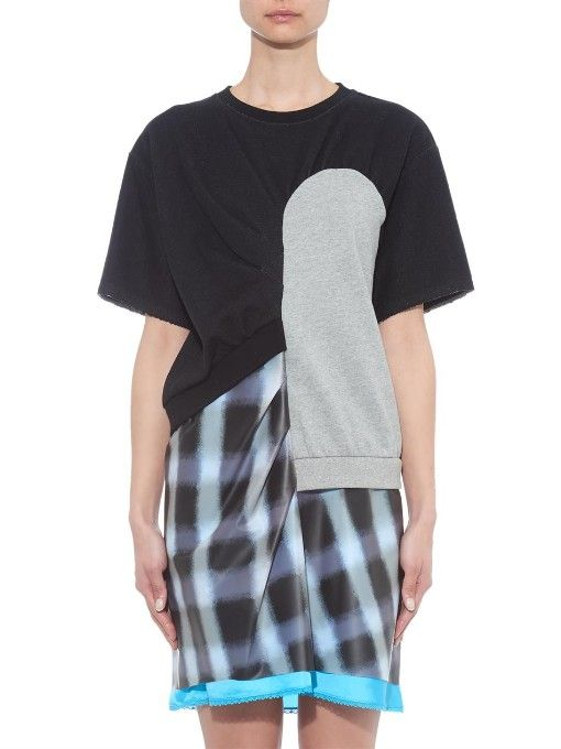 Marc By Marc Jacobs Blurred gingham-print layered dress