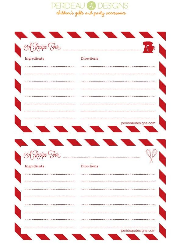 Free Printable Recipe Cards Holiday Recipe Card Christmas Recipe Cards Recipe Cards Template