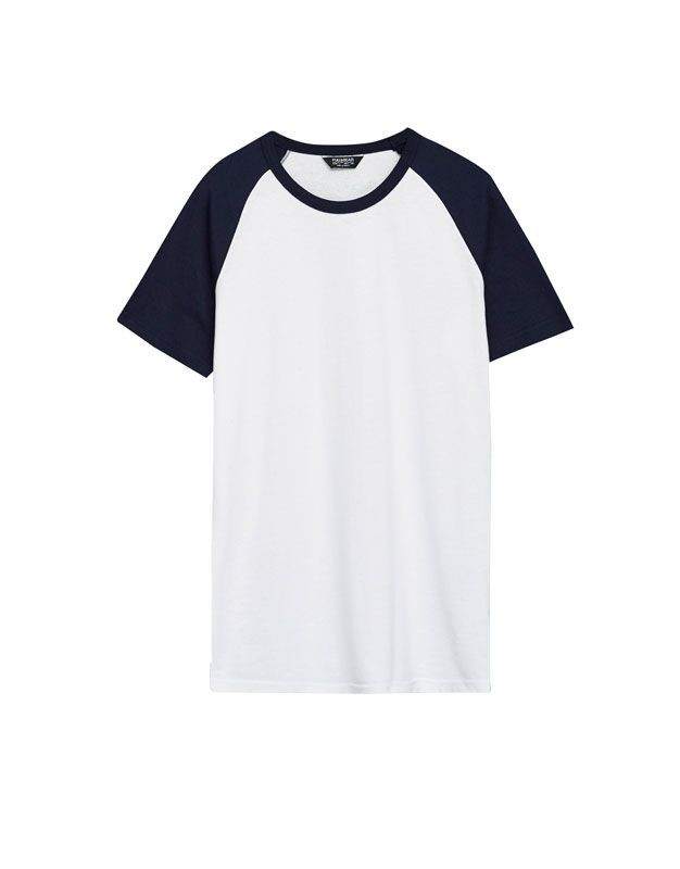 5ca6275b6c Camiseta manga ranglan contraste - Camisetas - Ropa - Hombre - PULL BEAR  España