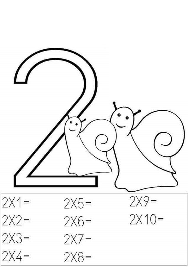 2 times table worksheets snail   K5 Worksheets   Math Worksheets for ...