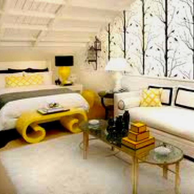 Love This Homey White Room With Yellow Accents White Bedroom
