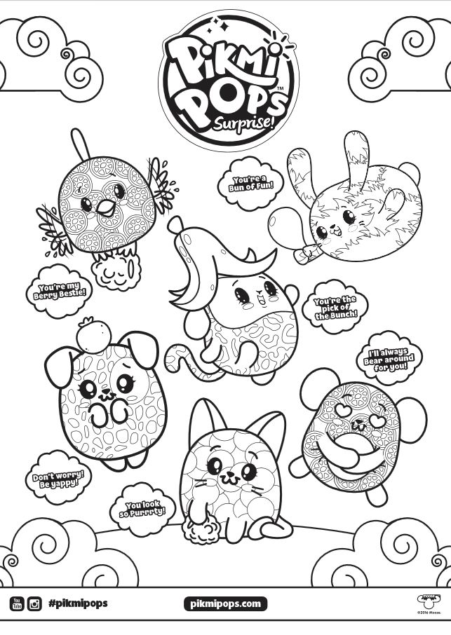 Pikmi Pops Coloring Page Click The Picture To Go To The Coloring