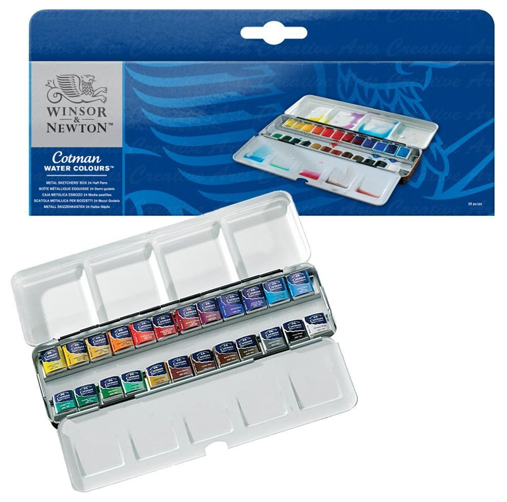 Winsor Amp Newton Cotman Artist Water Colour Metal Sketchers Box