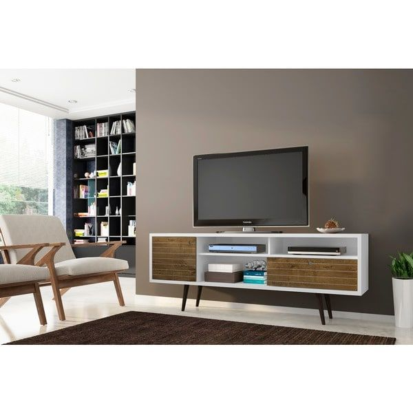 Manhattan fort Liberty 70 86 Mid Century Modern TV Stand with 4