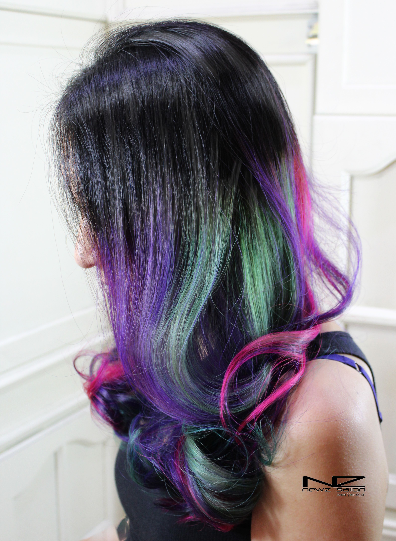 Balayage Ombre dip dye ash hair Color Newz salon & NZ hair