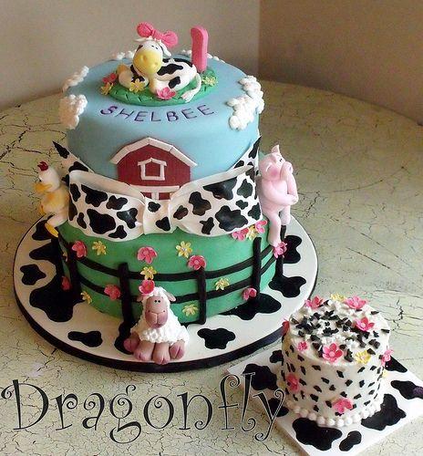 Farm theme birthday cake Unique Kids Birthday Cakes Volume 2