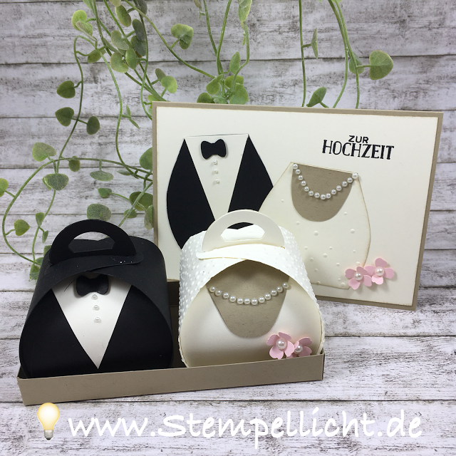 verpackungen f r hochzeit mit passender karte mit der. Black Bedroom Furniture Sets. Home Design Ideas