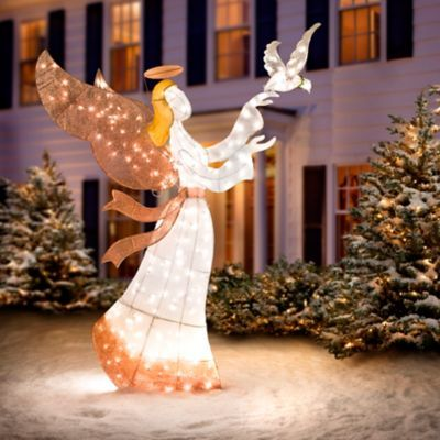 Ombre mesh angel with dove lighted outdoor christmas its beginning ombre mesh angel with dove lighted outdoor christmas its beginning to look alot like christmas pinterest outdoor christmas yards and decoration aloadofball Image collections