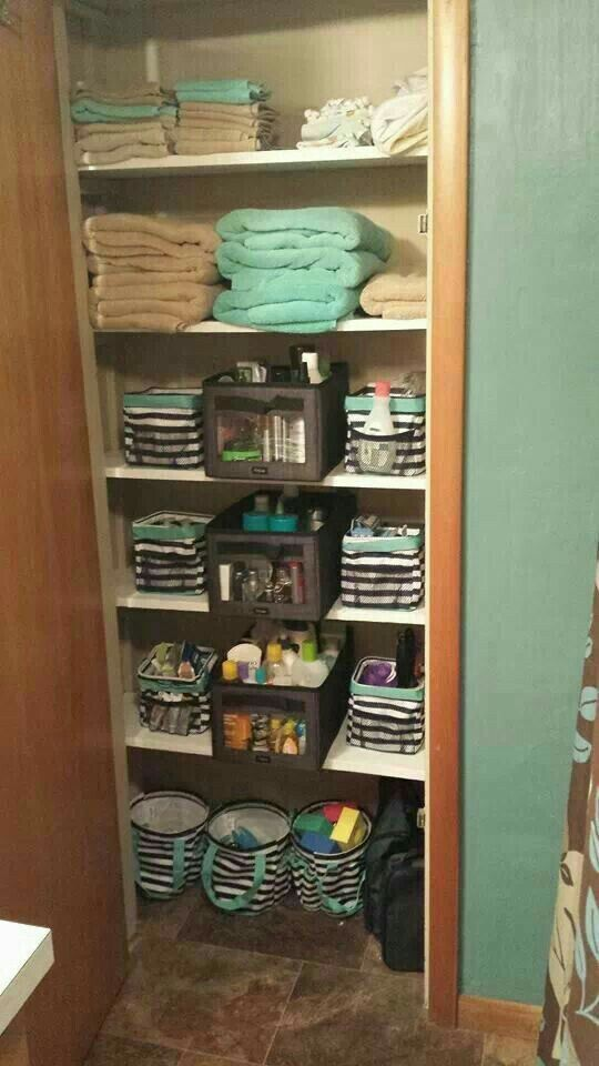 Organize That Bathroom Closet Space With Thirty One Thirty