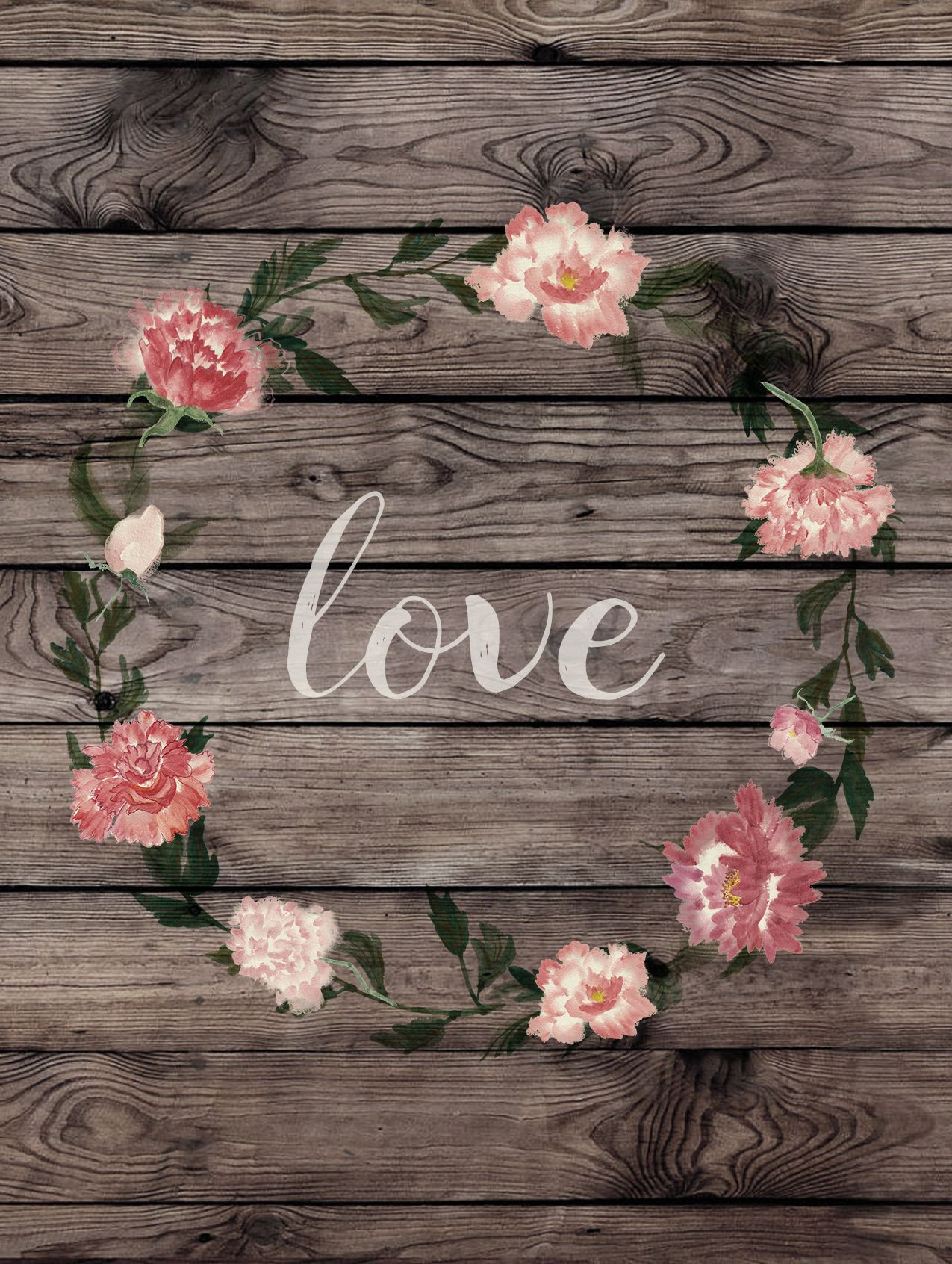One of our exclusive greeting cards love wood grain flower wreath one of our exclusive greeting cards love wood grain flower wreath greeting card bohemian m4hsunfo