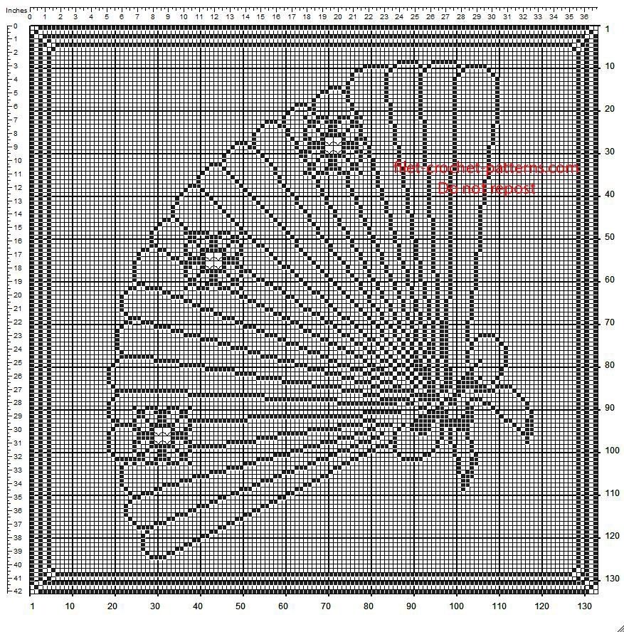 Free crochet filet pattern diagram for frame with hand fan 133 x free crochet filet pattern diagram for frame with hand fan 133 x 133 squares ccuart Images