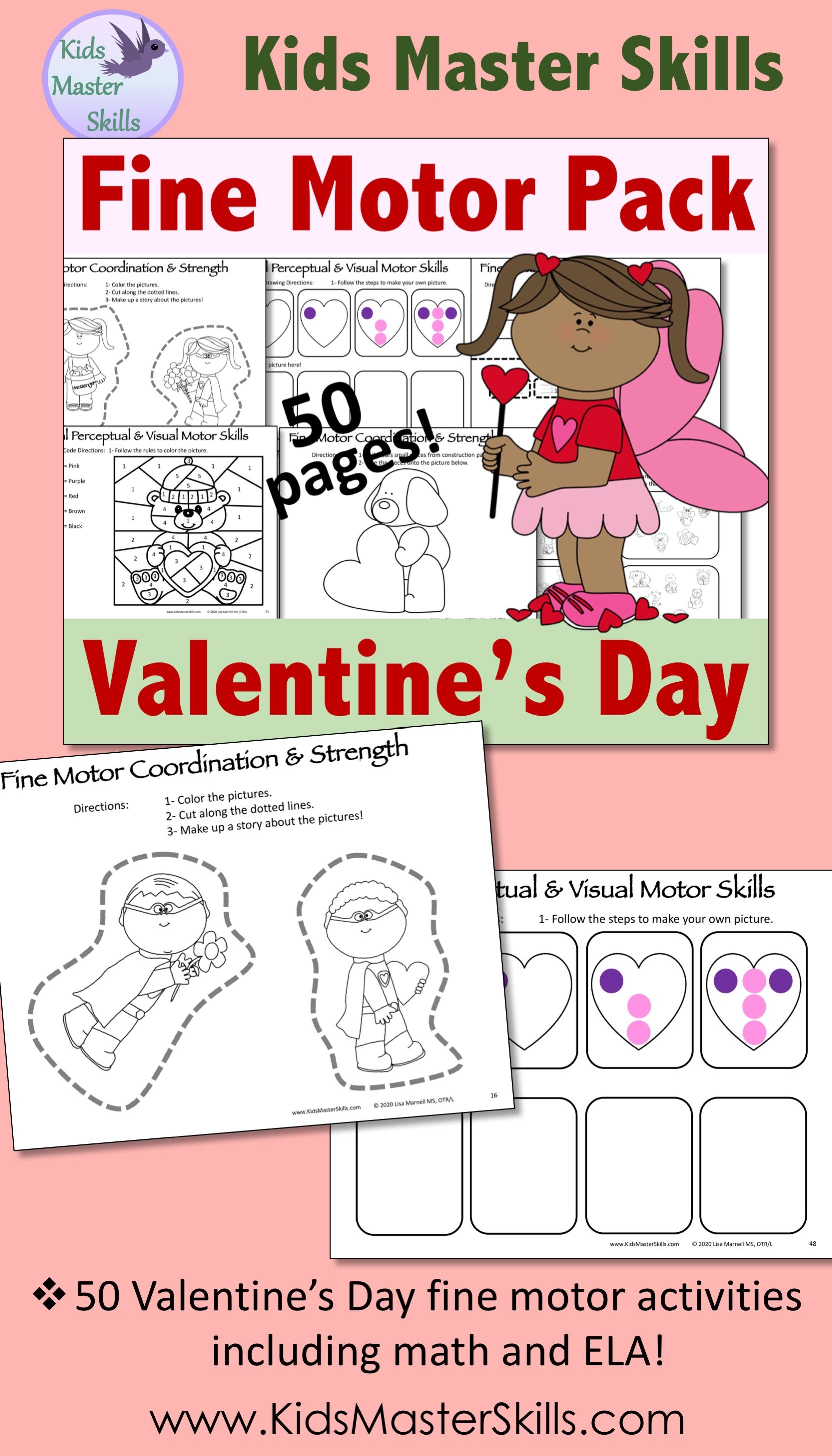 Valentine S Day Fine Motor Activities Pack