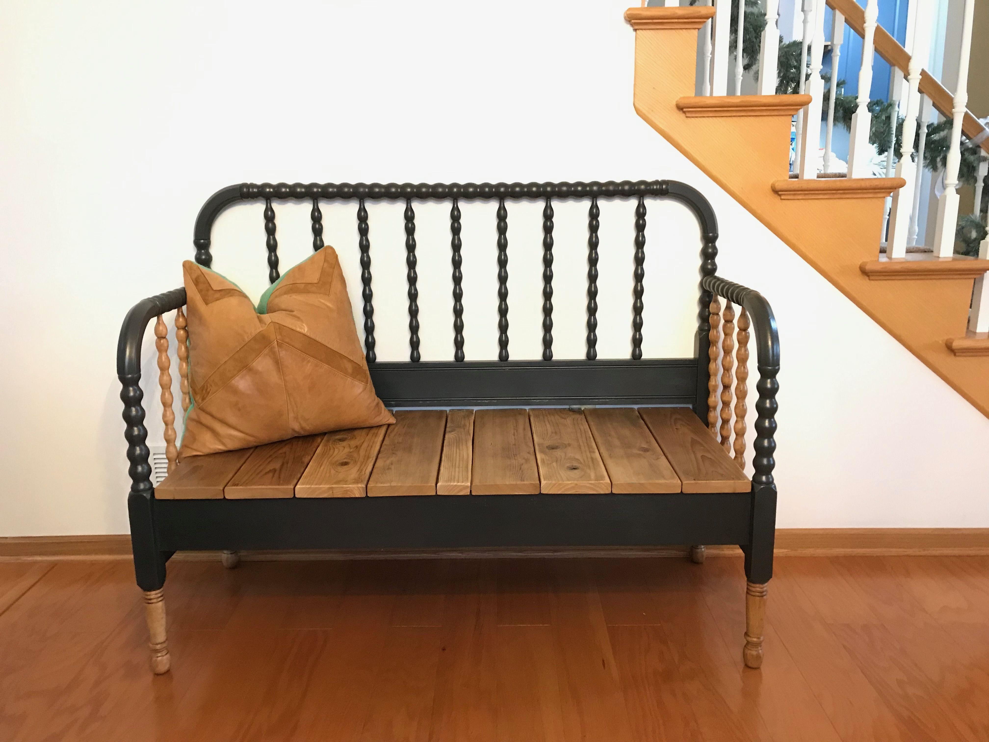 Wood Bench Jenny Lind Twin Bed Frame Natural Wood Annie Sloan Graphite Satin Spar Urethane Sealer Bed Frame Bench Natural Wood Bed Twin Bed Frame