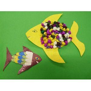 Pin von trendmarkt24 bastelanleitungen crafting diy video tutorials auf tiere basteln - Fische basteln aus papier ...