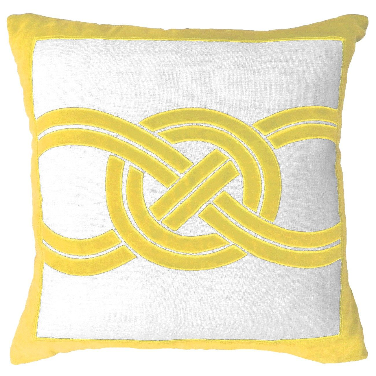 Knot yellow lounge throw pillow laylagrayce pillows