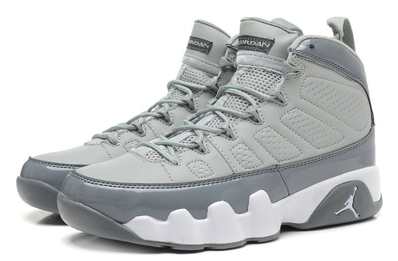 cf8520c47394ed Air Jordan IX 9 Cool Grey Medium Grey White 302370 015