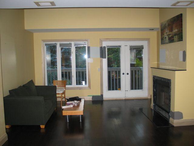 black painted hardwood floors - Black Painted Hardwood Floors Home Decor-Kitchen Dining Space