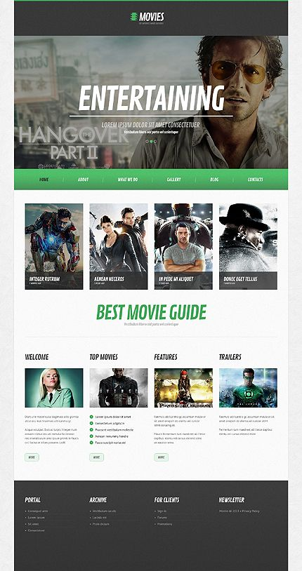 template 44493 movies video responsive wordpress theme flat