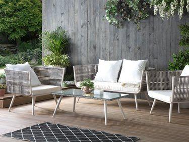 Salon de jardin en rotin beige RAGUSA | Notre jardin idéal | Outdoor ...