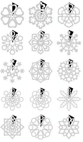 Fabulous Schneeflocken zum Ausschneiden. | basteln | Schneeflocken IL13
