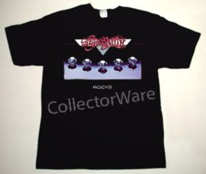 AEROSMITH Rocks DELUXE CUSTOM ART UNIQUE T-SHIRT   Each T-shirt is individually hand-painted, a true and unique work of art indeed!  To order this, or design your own custom T-shirt, please contact us at info@collectorware.com, or visit  http://www.collectorware.com/tees-aerosmith_andrelated.htm
