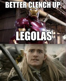 Lord of the Rings/ The Avengers Clench up, Legolas Legolas
