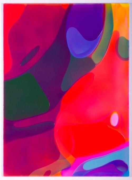"""PETER ZIMMERMANN """"Soma"""" 2006 Epoxy resin on canvas / Résine epoxy sur toile 6.6 feet x 57 3/4 inches / 200 x 147 cm unique"""