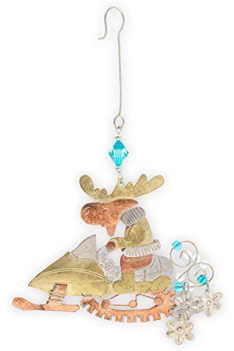 Pilgrim Ornaments Snowmobile Moose Christmas Ornament \u003e\u003e\u003e Check out - moose christmas decorations