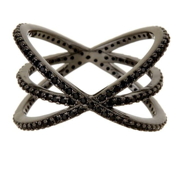 14th & Union Pave CZ Crisscross Ring - Size 7 ($16) ❤ liked on Polyvore featuring jewelry, rings, pave jewelry, polish jewelry, cz pave ring, zirconia jewelry and pave ring