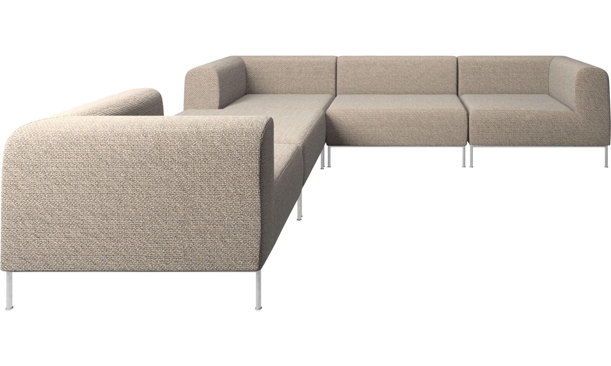 Modular sofas Miami corner sofa with footstool on left