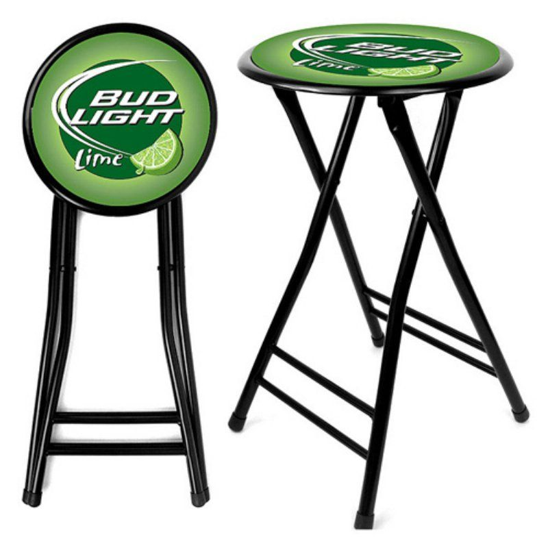 Trademark Bud Light Lime 24 In Cushioned Folding Stool Ab2400