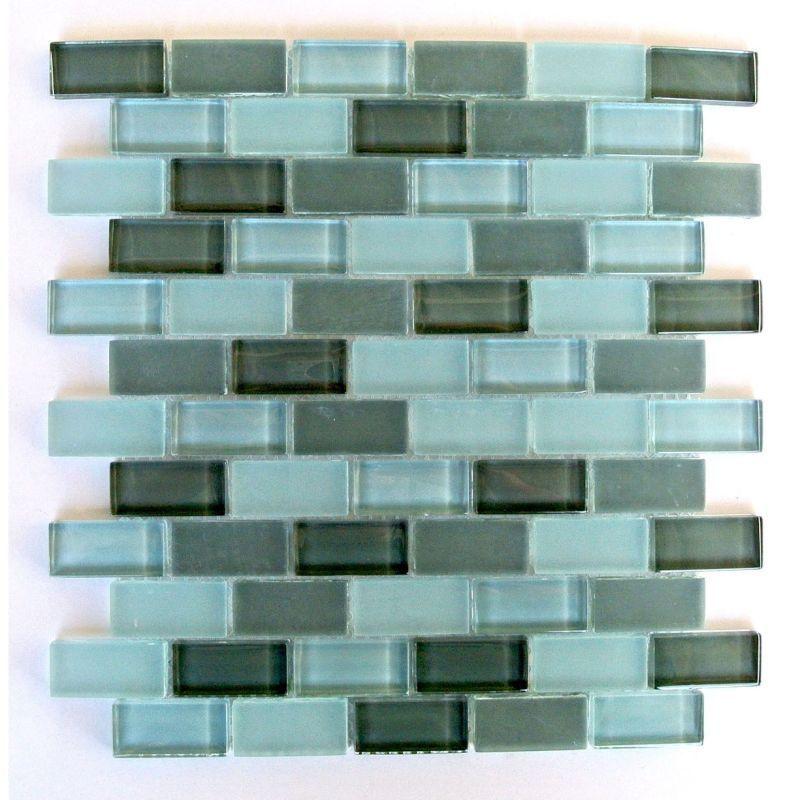 Miseno Mt Amadahy1x2 Amadahy 1 X 2 Glass Visual Wall Tile Sold By Sheet Blue Green Tile Wall Ti Mosaic Glass Blue Tile Backsplash Glass Mosaic Tiles