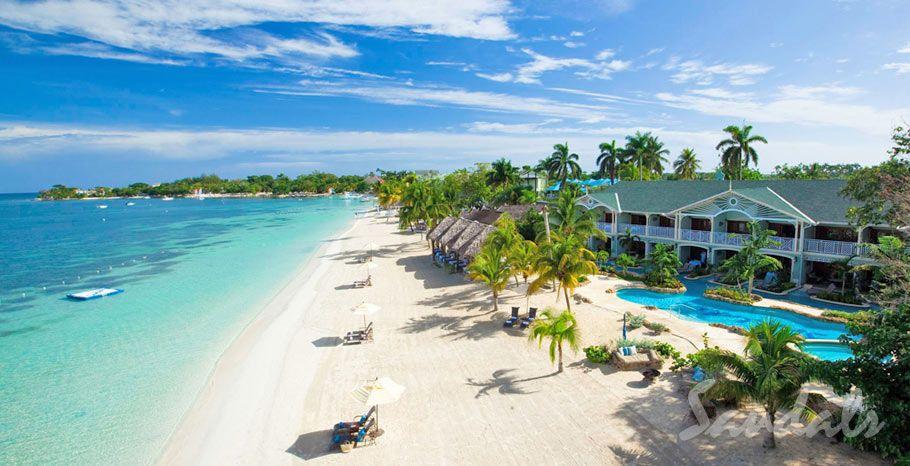 Seven Mile Beach Sandals Negril In Jamaica Wedding Destinationwedding Pin To
