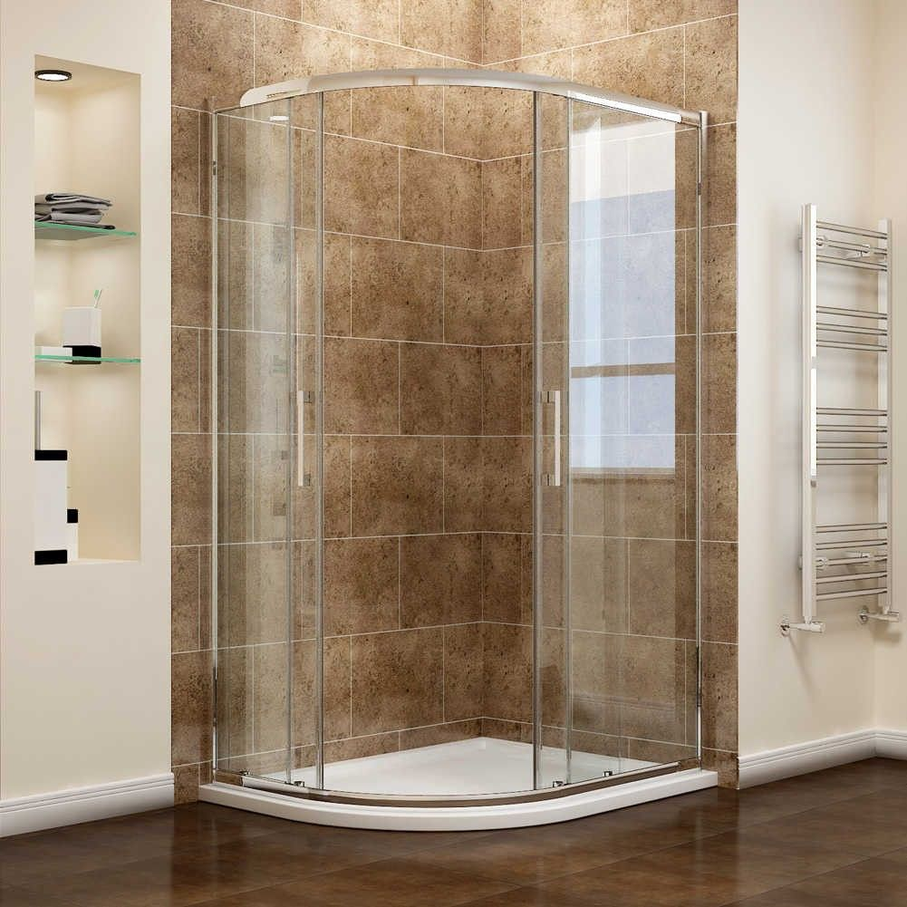 ELEGANT Offset/Quadrant - 8mm Easy Clean Glass Shower Enclosure Set ...