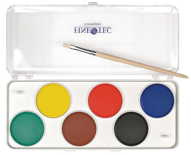 Finetec Preschool Watercolor Paint 6 Color Set Model F6000
