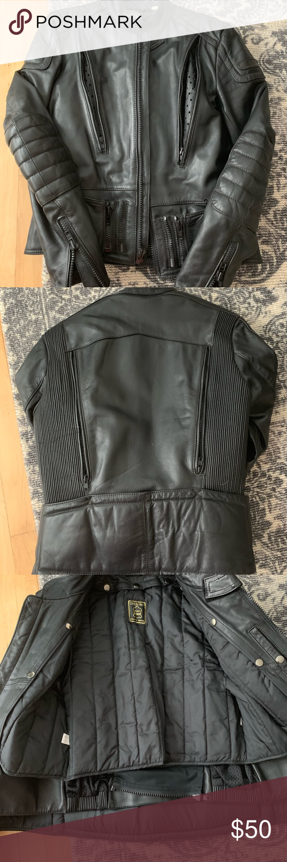 Men's leather jacket Leather jacket, Jackets, Leather